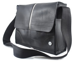 Recycled Rubber Tire Handbag Messenger Bag Jpg